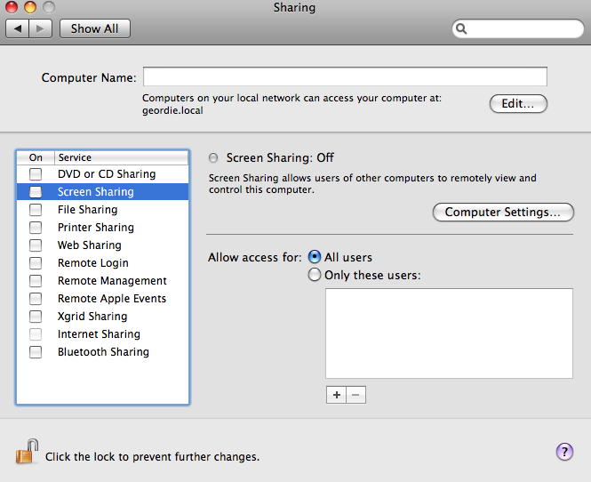 Adam D  Myers's Guide to setting up Mac OS X
